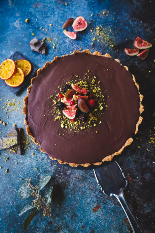 Ganache Chocolate Tart