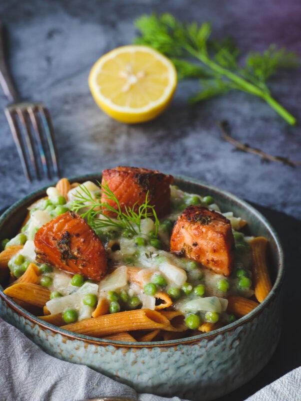 Salmon Penne Pasta recipe